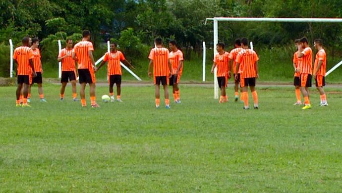 União Barbarense treino  (Foto: Márcio de Campos / EPTV)