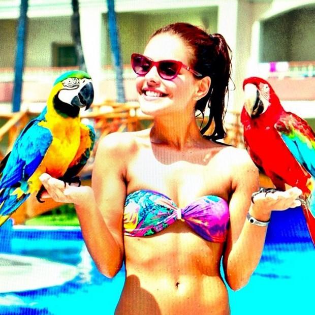 Paloma Bernardi revela que adora praia e piscina (Foto: Arquivo Pessoal)