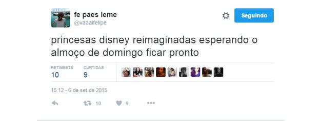 Meme das princesas Disney reimaginadas (Foto: Reprodução/Twitter)
