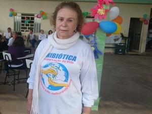 Fundadora da unibiótica em Divinópolis (Foto: Anna Lúcia Silva/G1)