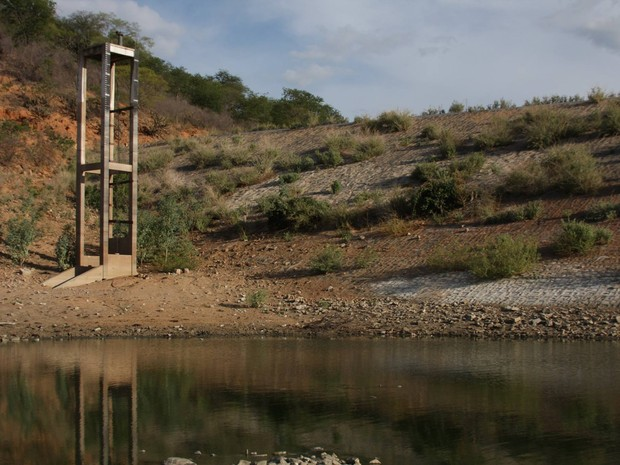 Barragem Cajazeiras, localizada na cidade de Pio IX, Sul do Piauí (Foto: Rosa Melo)