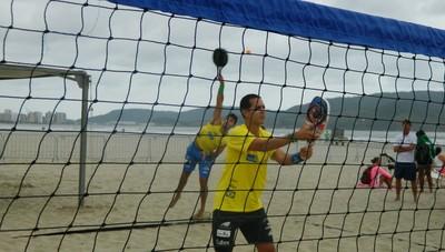 Thales Santos e Marcus Vinicius Beach Tennis (Foto: Divulgação/ E5+ Comunicação & Marketing)