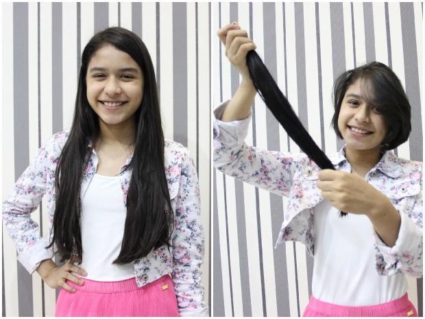 Maria Julia tinha cabelo grande há cinco anos (Foto: Jamile Alves/G1 AM)