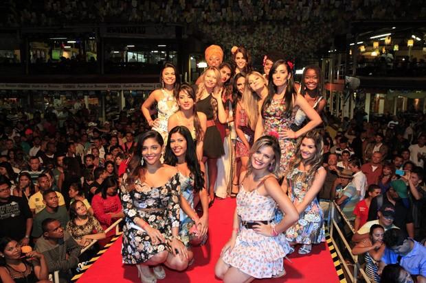Candidatas semifinalistas do concurso Beleza Nordestina 2015 (Foto: Isac Luz/EGO)
