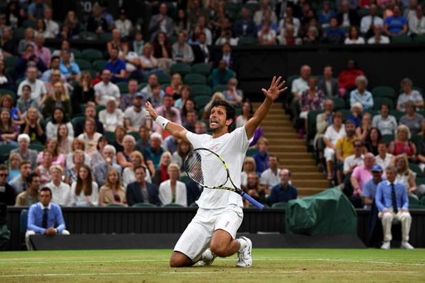 Marcelo Melo em Wimbledon (Foto: Getty Images)