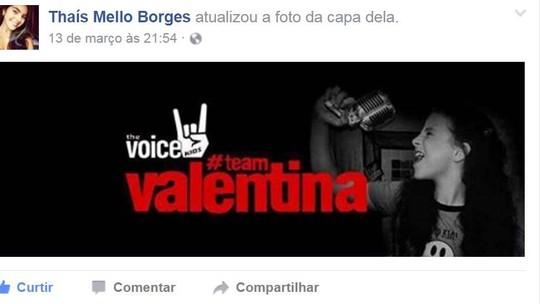 Valentina Francisco tem torcida organizada em Petrópolis com direito a grito: '#teamValentina'