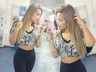 Geisy Arruda faz selfie na academia: 'Tentando ficar rica e magra'