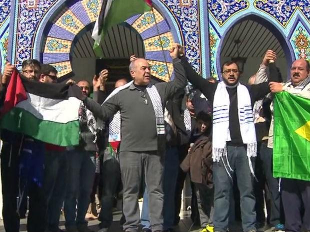 Judeus e muçulmanos pediram paz em Curitiba (Foto: Reprodução / RPC TV)
