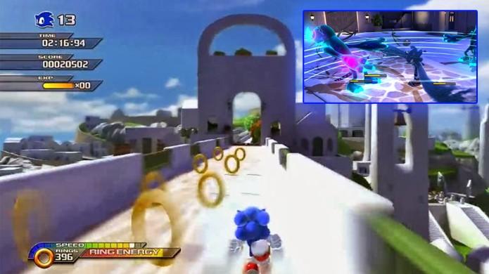 Durante o dia Sonic Unleashed era um jogo razoável, mas à noite o Werehog estragava a experiência (Foto: Reprodução/Neko Random e Sonic Wikia)