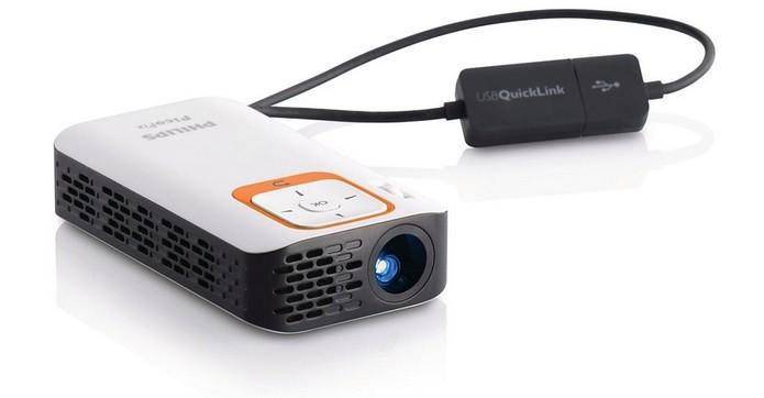 Mini projetor de bolso Picopix PPX2330 (Foto: Divulgação/Philips)