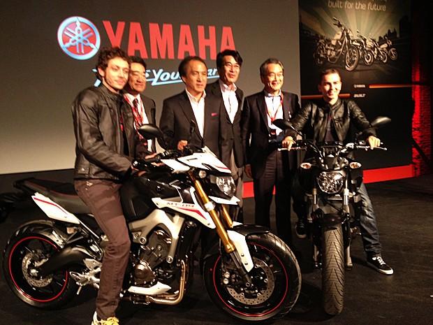 Yamaha apresentou novidades no Salão de Milão 2013 (Foto: Roberto Agresti/G1)