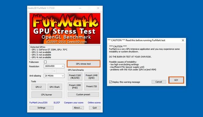 Faça um teste de desempenho gráfico mais longo no computador (Foto: Reprodução/Barbara Mannara)