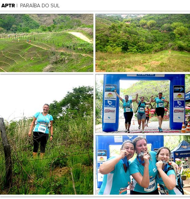 Mosaico Eu Atleta APTR Paraíba do Sul (Foto: Carla Gomes)