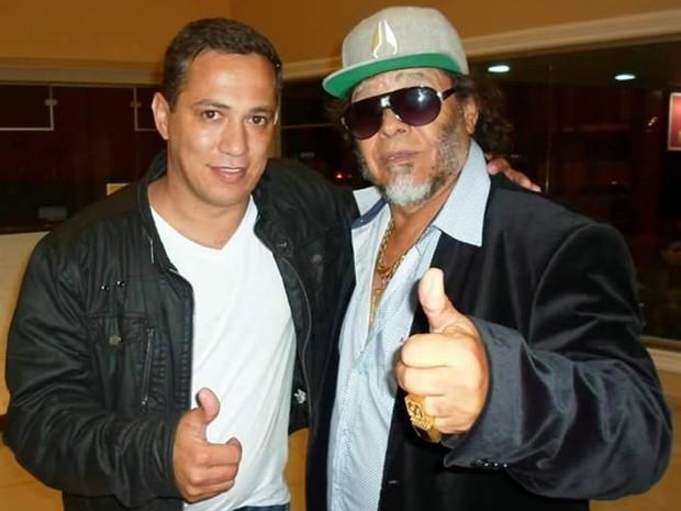 Celso e José Rico em foto tirada em Itapeva (SP), em 2014 (Foto: Arquivo Pessoal/ Celso Marques)