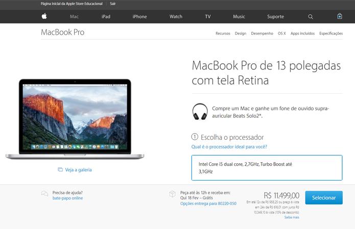 Apple oferece descontos em linhas de MacBooks, iPads e desktops (Foto:  Reprodução/Filipe Garrett)