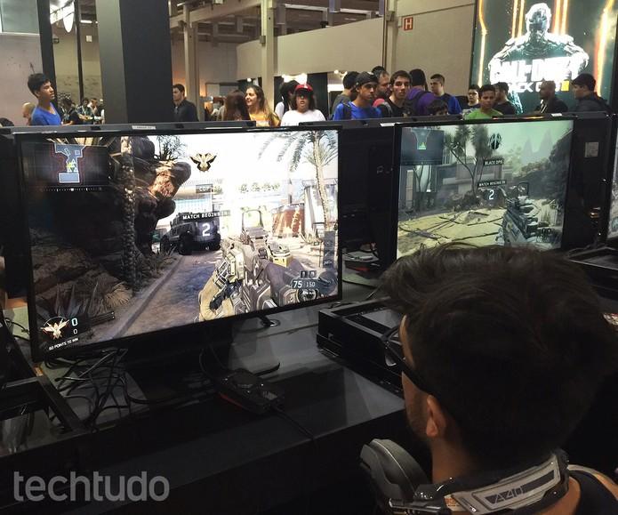 Jogabilidade de Call of Duty: Black Ops 3 está mais cadenciada (Foto: Victor Teixeira /TechTudo)