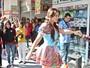 Geisy Arruda se veste de caipira com roupa da 25 de março: 'Pechincha'