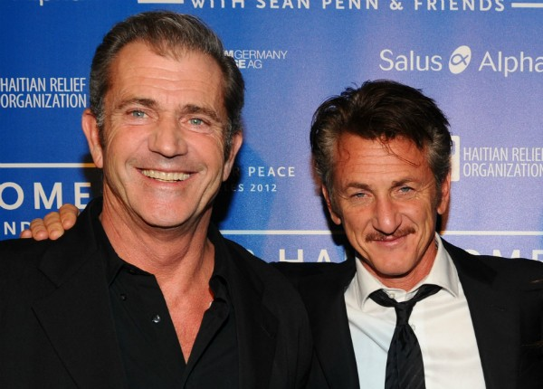 Os atores Mel Gibson e Sean Penn (Foto: Getty Images)