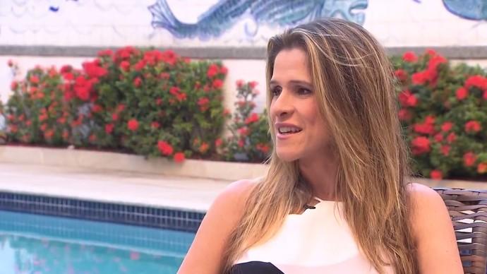 A atriz Ingrid Guimarães conta que adora o Carnaval da Bahia  (Foto: TV Bahia)