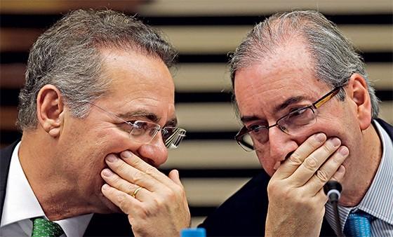 Renan Calheiros e Eduardo Cunha  (Foto: Paulo Whitaker/Reuters)