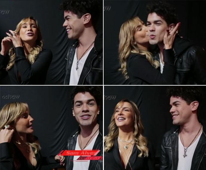 Sam e Claudia Leitte fazem bagunça nos bastidores do The Voice Brasil (Foto: Globo)