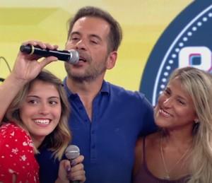 Leandro Hassum fica emocionado ao falar da família (Foto: TV Globo)