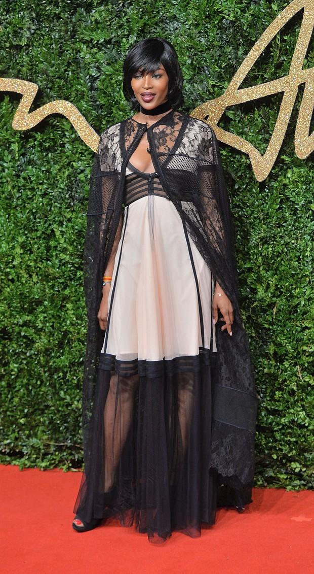 Naomi Campbell no British Fashion Awards (Foto: Getty Images)
