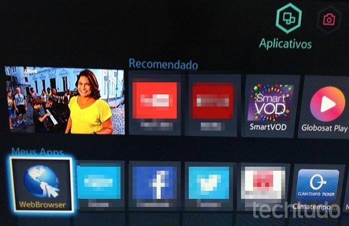 Smart TV Samsung  (Foto: Gabriel Ribeiro/TechTudo)