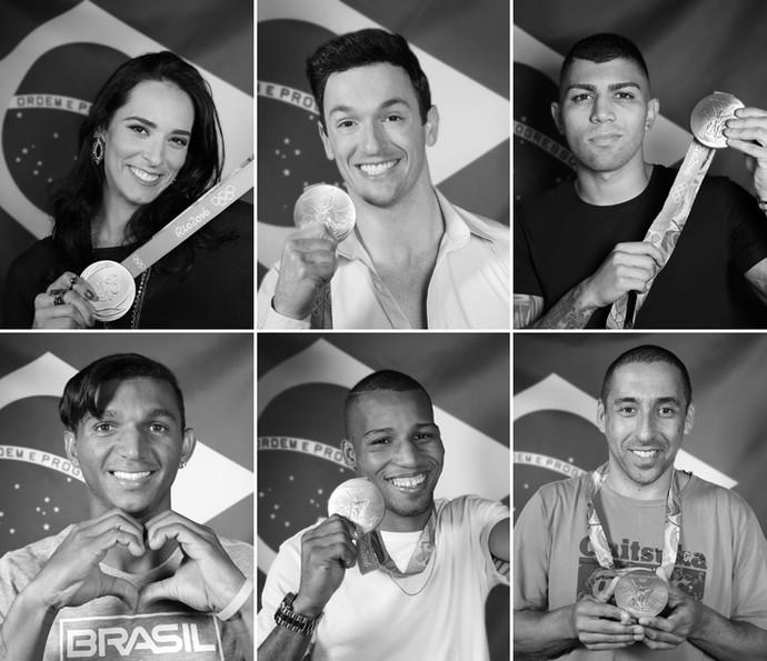 Medalhistas na Rio 2016 posam nos bastidores do 'Altas Horas' (Foto: Carol Caminha/Gshow)