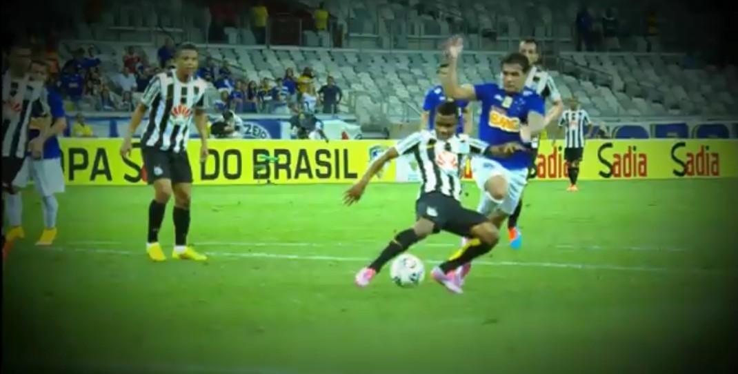 Santos e Cruzeiro (Foto: Reprodução/TV Globo)