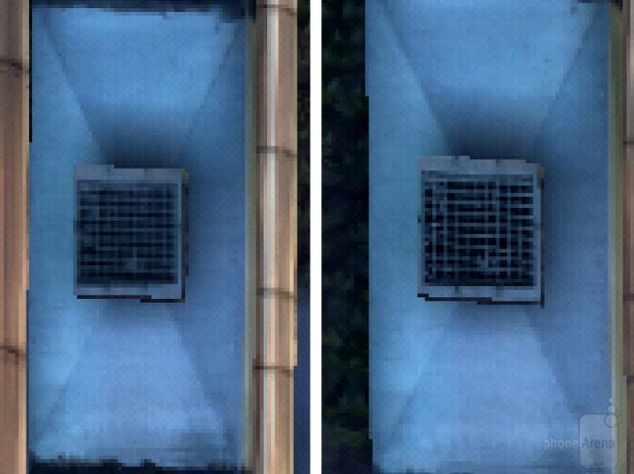 Exemplo de um jogo no LG G4 com otimizador ativado (à esquerda) e desativado (à direita) (Foto:Reprodução\PhoneArena)