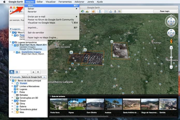 Abra o arquivo no Google Earth (Foto: Reprodução/Alessandro Junior)