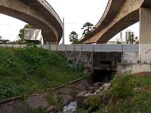Prefeitura anunciou retomada das obras no viaduto do Baldo (Foto: Reprodução/Inter TV Cabugi)