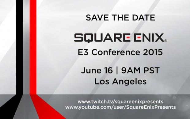 Convite da Square Enix para sua conferência na feira E3 2015, em Los Angeles (EUA) (Foto: Divulgação/Square Enix)