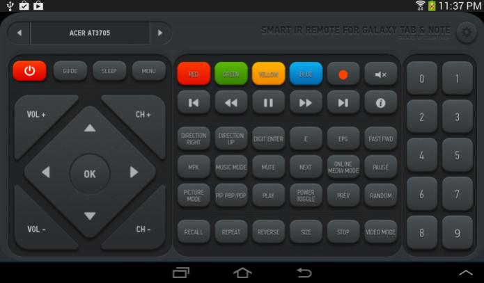 O Smart IR Remote transforma seu dispositivo em um controle remoto para sua TV e outros aparelhos (Foto: Reprodução/Google Play)