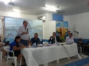 Reunião foi realizada na sexta-feira na sede da Z-20 (Foto: Divulgação/CCOM-PMS)
