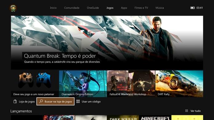 Vá até a loja do Xbox One (Foto: Reprodução/Murilo Molina)
