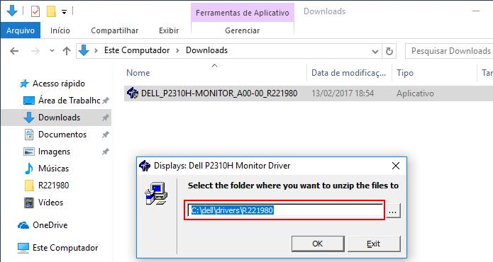 Descompactando um driver no Windows (Foto: Reprodução/Edivaldo Brito)