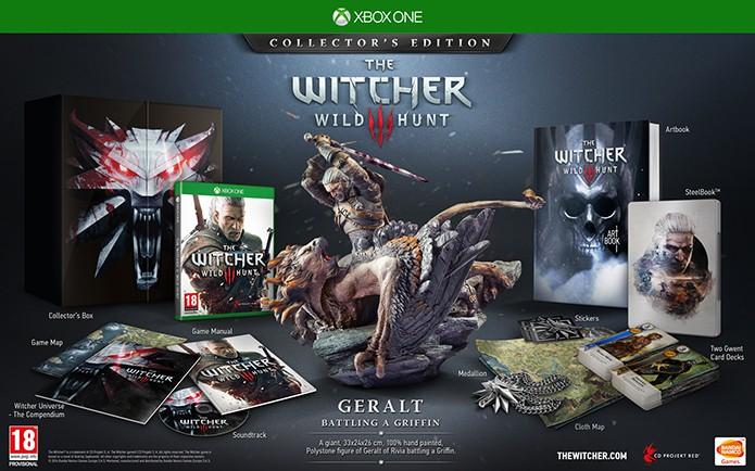 Edição limitada de The Witcher 3 também está no Xbox One (Foto: Divulgação/Projekt RED)