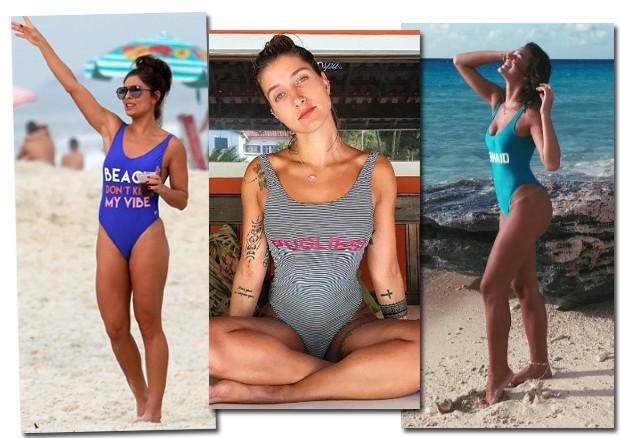Juliana Paes, Gabriela Pugliesi e Bruna Marquezine apostam no shape asa-delta (Foto: AG Newa / Reprodução / Instagram)