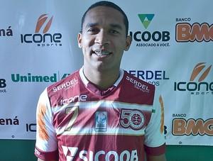 Badinho, atacante da Desportiva Ferroviária (Foto: Sidney Magno Novo/Globoesporte.com)
