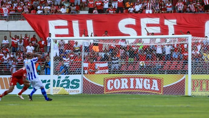 Gol do Neto Baiano, do CRB - CRB x CSA, no Rei Pelé (Foto: Ailton Cruz/Gazeta de Alagoas)