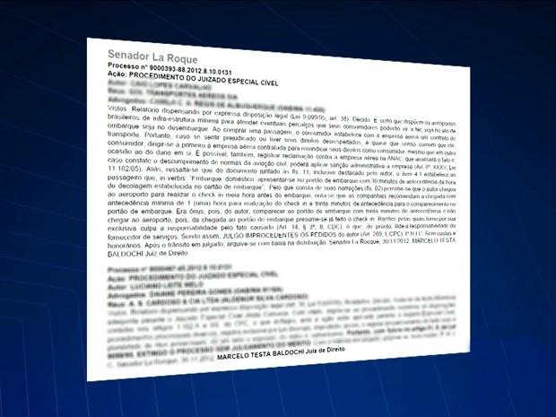 Decisão proferida pelo juiz Marcelo Baldochi (Foto: Reprodução / TV Mirante)