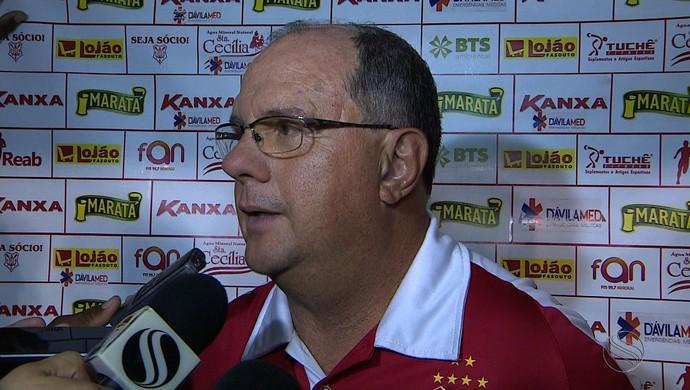 Marcelo Vilar, técnico do Sergipe (Foto: Reprodução/TV Sergipe)