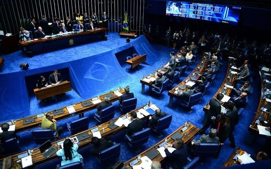 Senado vota sobre decisão de manter ou liberar Delcídio do Amaral (PT-MS) da prisão (Foto: Wilson Dias / Agência Brasil)