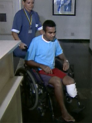 Justiça de São Paulo condena banco a pagar indenização a eletricista baleado por fuzil em roubo (Foto: Reprodução TV Globo)