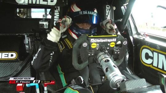 Líder do campeonato, Felipe Fraga faz a pole em Curitiba; Rubinho é quarto