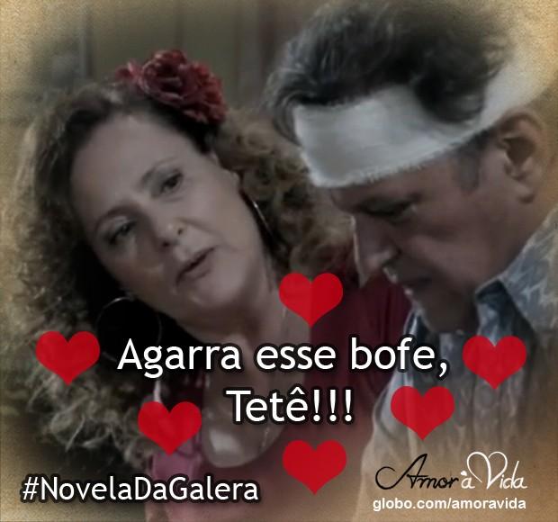 Márcia com Atílio (Foto: Amor à Vida / TV Globo)