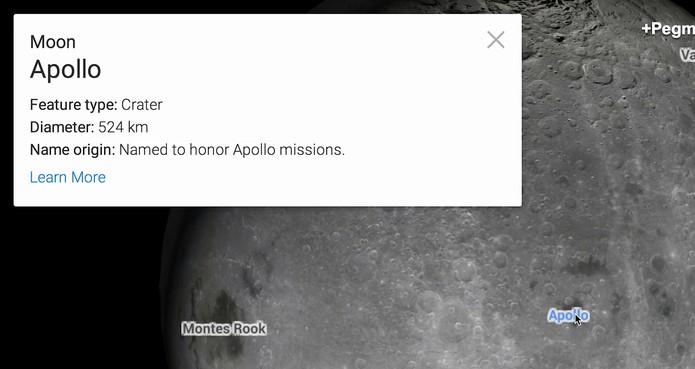 Google Maps chegou à Lua  (Foto: Reprodução/YouTube)