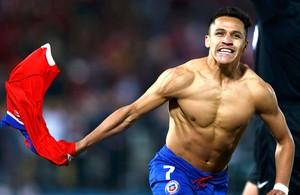 Sanchez, Chile X Argentina - Copa América (Foto: Agência Reutes)